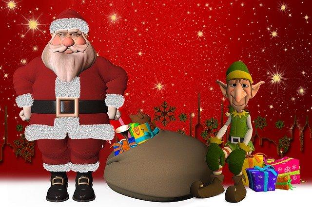 Santa s elfem