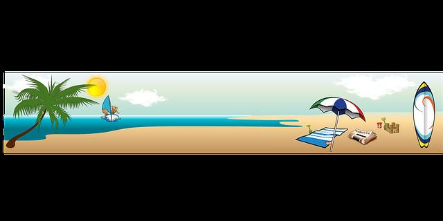 dovolená ilustrace