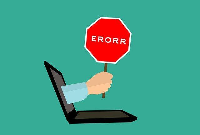 chyba v počítači