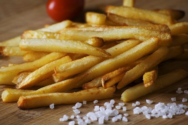 hranolky a sůl