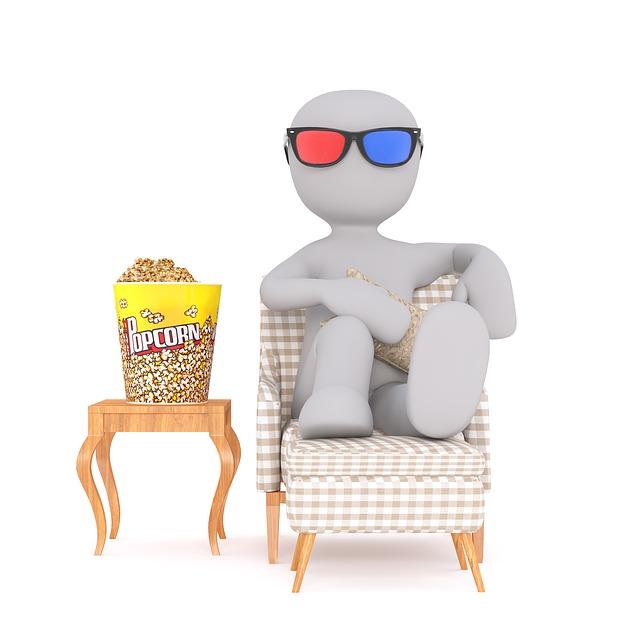 panáček a popcorn