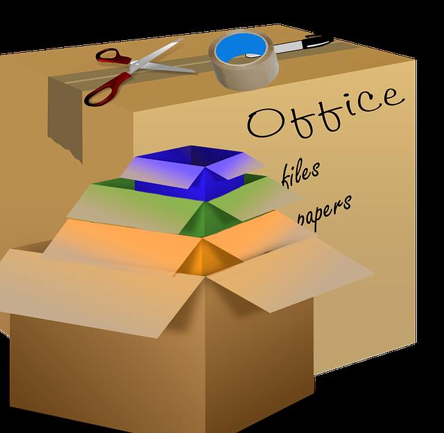 poskládané krabice