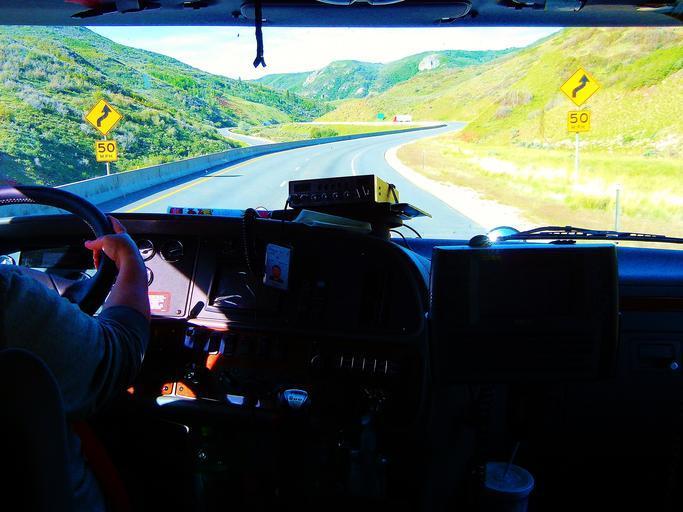 za volantem kamionu