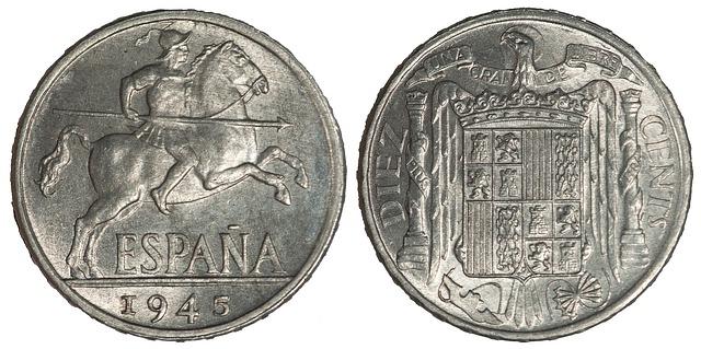staré španělské mince