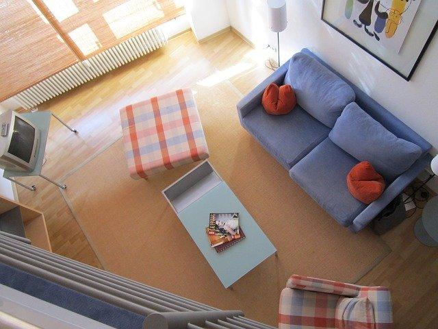 obývací pokoj shora