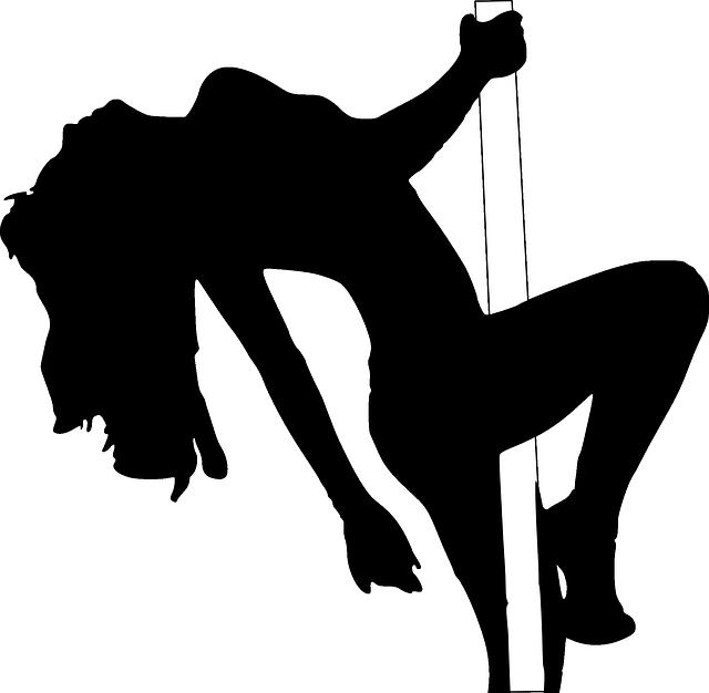 silueta striptérky