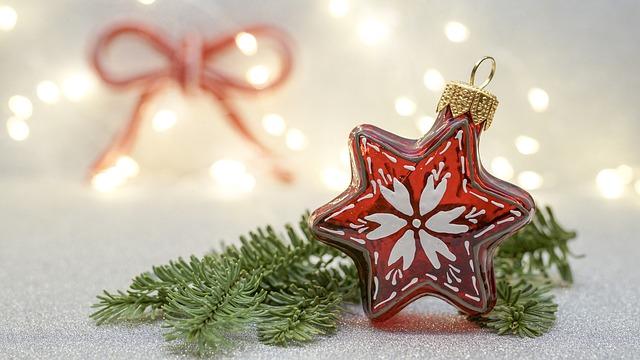 vánoční dekorace, hvězda